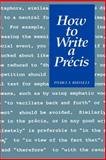 How to Write a Précis 9780776601434