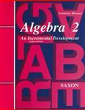 Algebra 2: Solutions Manual, , 1565771435