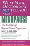 Menopause, John R. Lee and Virginia Hopkins, 0446671444