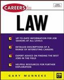 Careers in Law, Gary Munneke, 0071411453