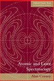 Atomic and Laser Spectroscopy, Corney, Alan, 0199211450