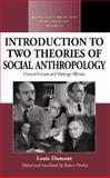 An Introduction to Two Theories of Social Anthropology : Descent Groups and Marriage Alliance, Dumont, Louis and Parkin, Robert, 1845451465