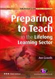 Preparing to Teach in the Lifelong Learning Sector, Gravells, Ann, 1844451461