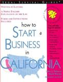 How to Start a Business in California, Talamo, John J. and Warda, Mark, 1572481463