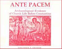 Ante Pacem, Graydon F. Snyder, 0865541477