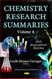 Chemistry Research Summaries Volume 4 (with Biographical Sketches), Lucille Monaco Cacioppo, 1633211479