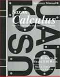 Solutions Manual for Saxon Calculus with Trigonometry and Analytic Geometry, John H. Saxon and Frank Y. Wang, 1565771486
