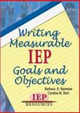 Writing Measurable IEP Goals and Objectives, Barbara D. Bateman, Cynthia M. Herr, 1578611490