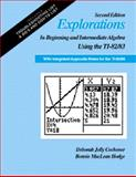Explorations in Beginning and Intermediate Algebra Using the TI-82/83 with Integrated Appendix Notes for the TI-85/86, Cochener, Deborah Jolly, 0534361498