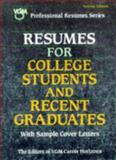 Resumes for College Students and Other Recent Graduates, Passport Books Staff, 0844241504