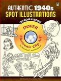 Authentic 1940s Spot Illustrations CD-ROM and Book, Clip Art, 0486991512