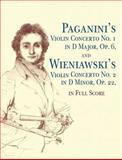 Paganini's Violin Concerto No 1 in D Major, Op 6 and Wieniawski's Violin Concerto, Nicolo Paganini and Henri Wieniawski, 0486431517