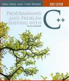 Programming and Problem Solving with C++, Dale, Nell and Weems, Chip, 0763771511