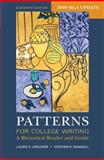 Patterns for College Writing with 2009 MLA Update : A Rhetorical Reader and Guide, Kirszner, Laurie G. and Mandell, Stephen R., 0312601522