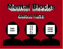 Mental Blocks - Famous Faces : Famous Faces, Varma, Michael, 0971781540