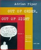 Out of Order, Out of Sight, Adrian Piper, 0262661543