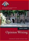 Opinion Writing 2005-2006, Inns of Court School of Law Staff, 0199281556
