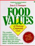 Bowes and Church's Food Values of Portions Commonly Used, Pennington, Jean A., 0062731564