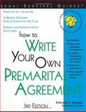 How to Write Your Own Premarital Agreement, Edward A. Haman, 1572481560