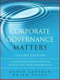 Corporate Governance Matters 2nd Edition