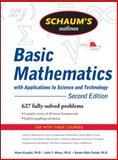 Basic Mathematics with Applications to Science and Technology, Kruglak, Haym and Mata-Toledo, Ramon, 0071611592