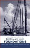 Analysis and Design of Shallow and Deep Foundations, Reese, Lymon C. and Wang, Shin-Tower, 0471431591