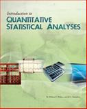 Introduction to Quantitative Statistical Analyses, Wallace, William P. and Yamashita, Jill A., 1609271610