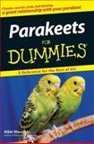 Parakeets for Dummies, Nikki Moustaki, 0470121629