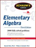 Elementary Algebra, Rich, Barnett and Schmidt, Philip, 0071611630