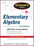Elementary Algebra : 2000 Fully Solved Problems, Rich, Barnett and Schmidt, Philip, 0071611630