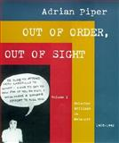 Out of Order, Out of Sight, Piper, Adrian, 026216163X