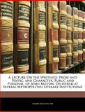 A Lecture on the Writings, Alfred Augustus Fry, 1141571633