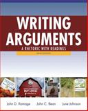Writing Arguments : A Rhetoric with Readings, Ramage, John D. and Bean, John C., 020517163X