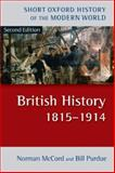 British History, 1815-1914, McCord, Norman and Purdue, Bill, 0199261644