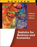Statistics for Business and Economics, Anderson, David R. and Sweeney, Dennis J., 0538481641