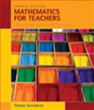 Mathematics for Teachers : An Interactive Approach for Grade K-8, Sonnabend, Thomas, 0495561665