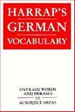 Harrap's German Vocabulary, Harrap's Staff, 0133831671