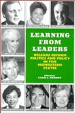 Learning from Leaders : Welfare Reform, Politics and Policy in Five Midwestern States, Weissert, Carol S., 0914341685