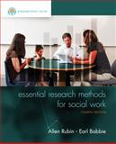Empowerment Series: Essential Research Methods for Social Work, Rubin, Allen and Babbie, Earl R., 1305101685