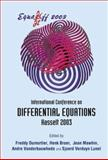 Equadiff 2003 : Proceedings of the International Conference on Differential Equations, Hasselt, Belgium 22 - 26 July 2003, , 9812561692