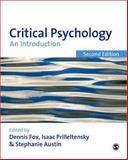 Critical Psychology : An Introduction, Prilleltensky, Isaac, 1847871739