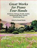 Great Works for Piano Four Hands, Ronald Herder, 0486401731