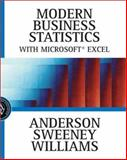 Modern Business Statistics with Microsoft Excel, Anderson, David and Sweeney, Dennis J., 0324121741
