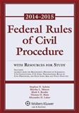 Federal Rule Civil Procedure 2014-2015 Stat Supp W/Resource Study, Subrin, 1454841761