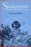 Shakespeare and the Problem of Meaning 9780226701783