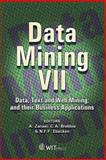 Data Mining VII : Data, Text and Web Mining and their Business Applications, A. Zanasi, 1845641787