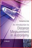 An Introduction to Distance Measurement in Astronomy, Richard de Grijs and Susan Cartwright, 0470511796
