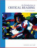Introduction to Critical Reading, McCraney, Leah, 0495801798