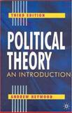 Political Theory : An Introduction, Heywood, Andrew, 0333961803