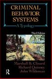 Criminal Behavior Systems : A Typology, Clinard, Marshall B. and Quinney, Richard, 0870841807